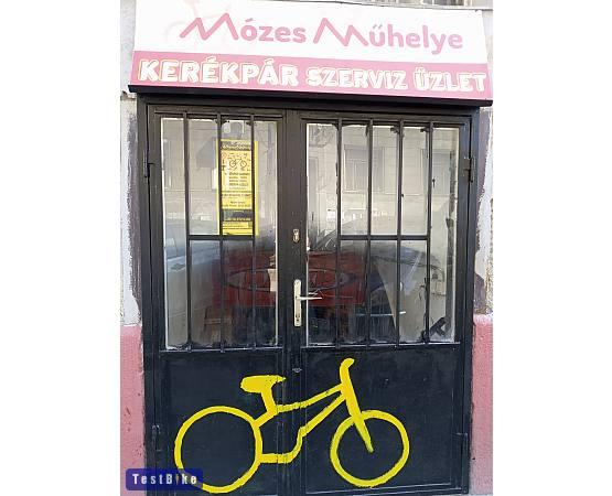 Mózes Műhelye kerékpárbolt