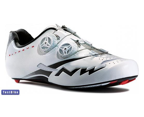 Northwave Extreme Tech Plus Road 2015 kerékpáros cipő, Fehér-fekete