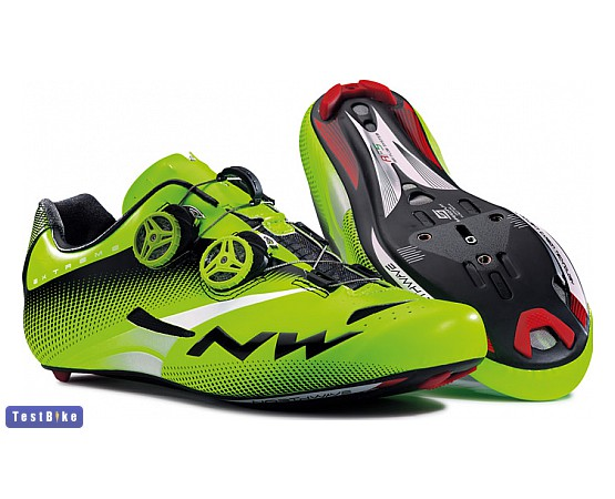 Northwave Extreme Tech Plus Road 2015 kerékpáros cipő, Zöld fluo