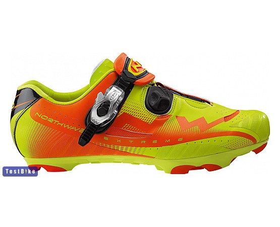 Northwave Extreme Tech SBS MTB 2015 kerékpáros cipő, Zöld-narancs kerékpáros cipő